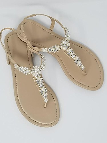 6785170eb4c7 A Bidda Bling Bridal Sandals Wedding Sandals with Pearls and Crystals (6)  Ivory