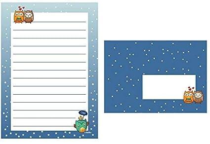 Búhos de Juego de papel de cartas para niños: 25 hojas de ...