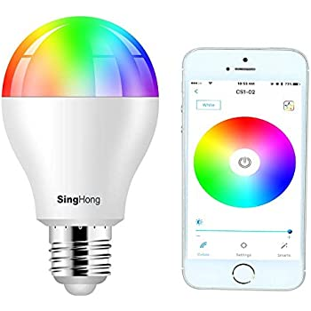 Luxjet E26 Bluetooth Smart Light Bulb Rgb Color Changing