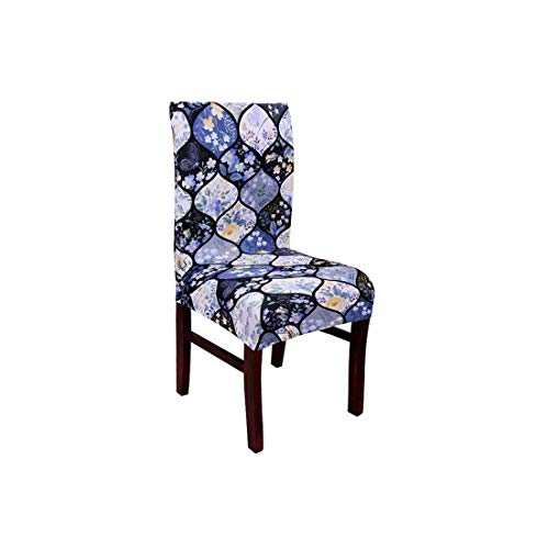 Spandex Elastic Dining Chair Cover with Back Universal Kitchen Living Room Stretch Slipcover Chair Covers Protector Seat Case,22,Universal