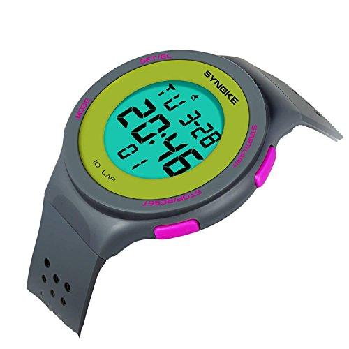 Kids Digital Watches for Girls Boys Sports Waterproof Alarm Watch with Reminder Stopwatch Outdoor Child Wristwatch for Youth Children 8-15y (Grey) by Anplex