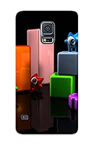 Design High Impact Dirt/shock Proof Case Cover For Galaxy S5 (cute Monsters On Cuboids)