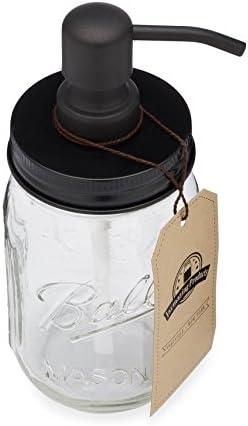 jarmazing Productos Mason Tarro dispensador de jabón – Negro – con ...