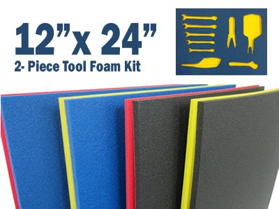 5S LEAN TOOL SHADOW FOAM ORGANIZERS 12