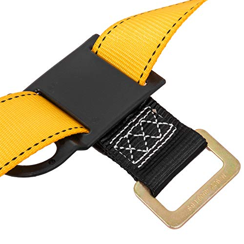 Happybuy Construction Safety Harness Fall Protection Full Body Safety Harness with 3 D-Rings,Belt and Additional Padding (Yellow with Belt) by Happybuy (Image #8)