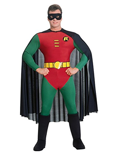 Batman And Robin Couples Costume (Deluxe Robin Costume - Large - Chest Size 46)