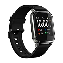 HAYLOU LS02 SmartWatch(1.4″, 260mAh, Bluetooth 5.0, IP68)-Fitness Tracker with Haylou App(Heart Rate, Pedometer, Calorie, Sleep, Multi-Sports Tracking, Smart Notifications), iOS & Android Compatible