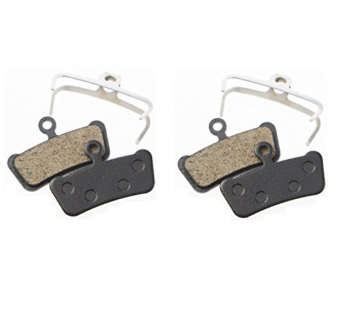 Replacement Resin Organic Semi-metal Brake Pads fit for Sram Avid Elixir TRAIL, X0 Trail, Elixir 7 Trail, Elixir 9 Trail, Guide, Guide R , Guide RS, Guide RSC, XOTR-M, XOTR-O, XOTR-O-AL, 2 Pairs by Juscycling