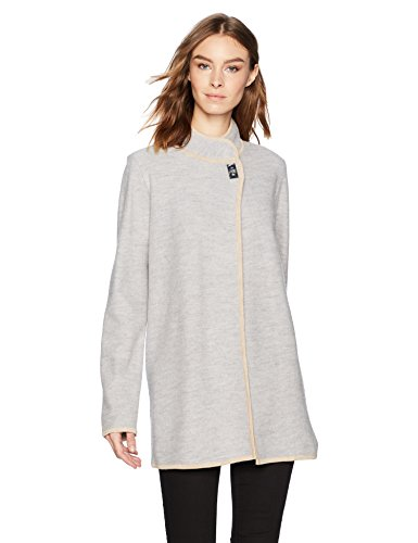 Calvin Klein Women's Long Boil Wool Jacket, ash, S ()
