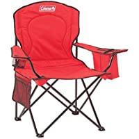 Coleman Oversized Quad Chair with Cooler Pouch (Red)