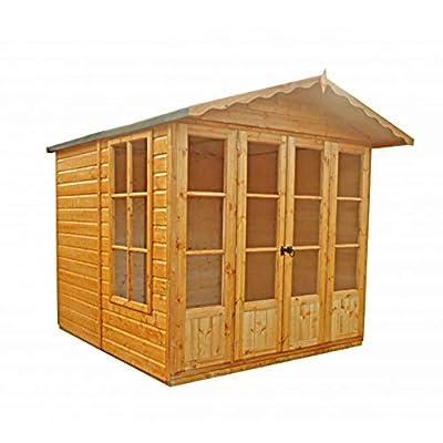 Shire Kensington 7x7 Garden Summer House Brown