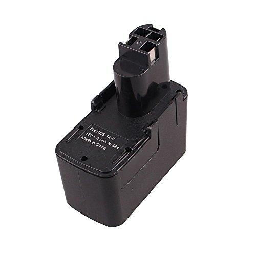 12V 3.0Ah 3000mAh Power Tools Battery Ni-MH Replacement Battery for BOSCH Battery (3.0Ah) (Power Dw980k Tools)