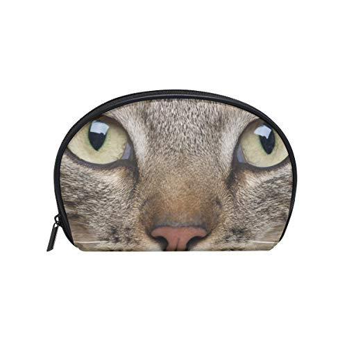 Makeup Bag Cosmetic Pouch Clutch Cat Whiskers Eyes Muzzle Animal ()