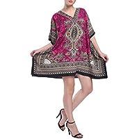 Miss Lavish London Women Kaftan Tunic Kimono Style Plus Size Dress for Loungewear Holidays Nightwear & Everyday Cover Up…