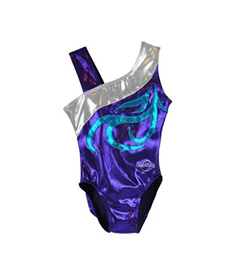 Obersee Kid's Gymnastics Leotard, Energy Purple, - Leotard Cxs
