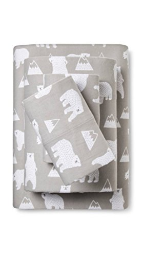 Pillowfort Polar Bear Full Size Flannel Sheet - Sheets Flannel Target
