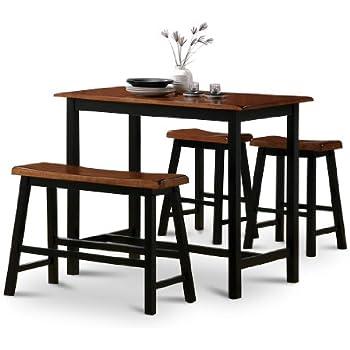 Amazon Com 4 Piece Natural Oak Finish Table Saddle