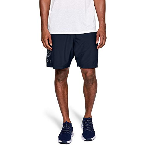 Under Armour Men's Woven Graphic Shorts, Academy (409)/Steel, XX-Large (Under Armour Mens Shorts)
