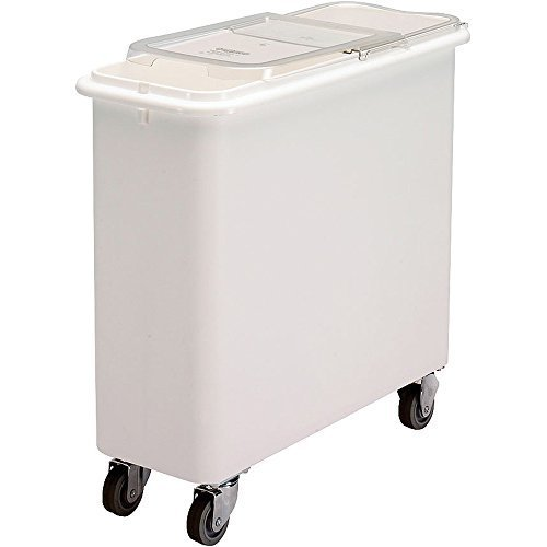 - Cambro IBSF27148 White Flat Top 27 Gal Ingredient Bin with Clear Lid by Cambro