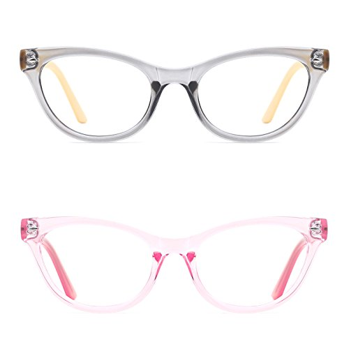 TIJN Super Inspired Mod Fashion Cat Eye Glasses Translucent Eyewear Frame (B, - Uk Designer Glasses Online Prescription