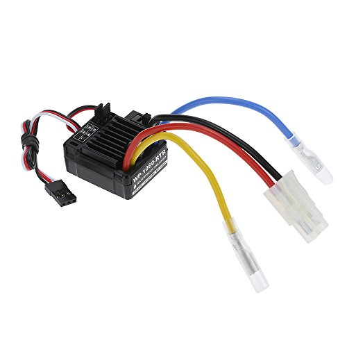 (Goolsky WP-1060-RTR Waterproof Brushed 2S-3S 60A ESC for 1/10 Tamiya Traxxas Redcat HSP HPI RC Car)