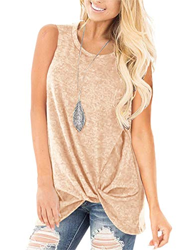- SAMPEEL Womens Tank Tops Summer Sleeveless Dressy Clothes Workout Apricot L