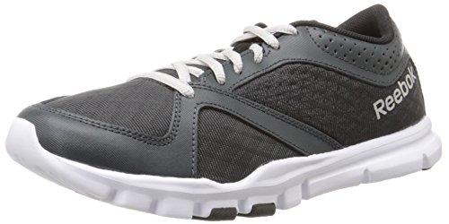 Reebok Women's Yourflex Trainette 7.0 LMT Training Shoe, Gravel/Black/White/Steel, 8.5 M US by Reebok