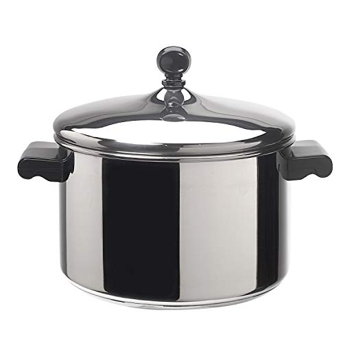 Farberware Classic Stainless Steel 4-Quart Covered Saucepot – – Silver