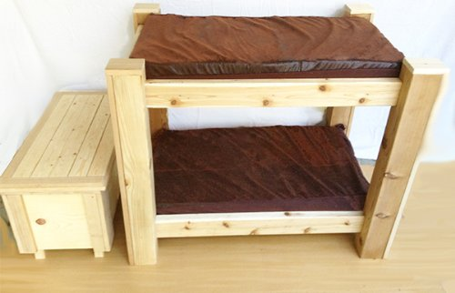 Bark S Big Dog Bunk Bed With Toy Chest Step Up Luxery Pet Bed