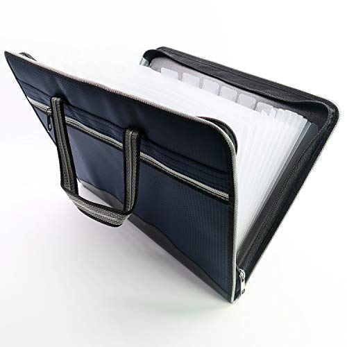 MarkGifts Waterproof Oxfordcotton Expanding Accordion Folders, Letter Size Portable Document Holder, A4 File Organizer