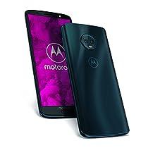 Motorola Moto G6 64GB – Smartphone libre Android (pantalla de 5.7'', 4G, cámara de 12MP, 4GB de RAM, 64GB, Dual Sim), color azul índigo – [Exclusivo Amazon]