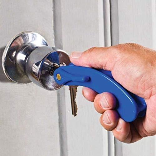 Schlüsselgriff Schlüsselhalter für 2 Schlüssel blau Schlüsseldrehhilfe