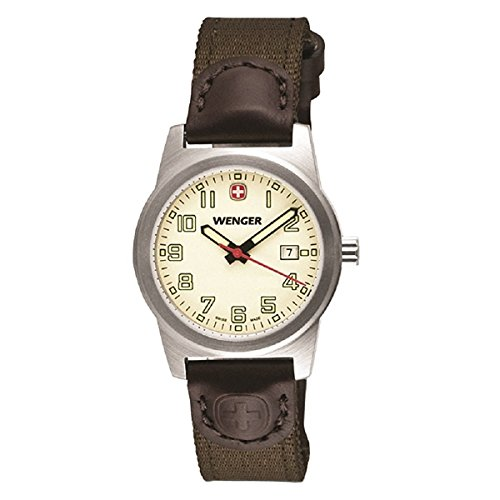 Wenger-Womens-City-Active-Swiss-Quartz-Stainless-Steel-and-Brown-Nylon-Casual-Watch-010411124