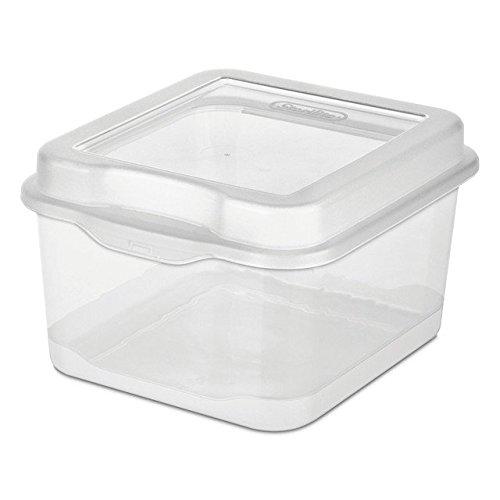Sterilite Plastic FlipTop Latching Storage Box, Clear (12 Pack) (Underbed Unit)