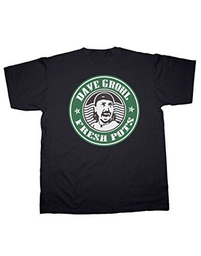 (Dave Grohl, Fresh Pots Vintage T-Shirt. All Sizes. 100% Cotton (5XL, Black))
