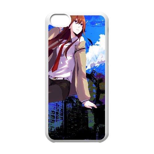 Steins Gate Girl Tie Shirt Background coque iPhone 5c cellulaire cas coque de téléphone cas blanche couverture de téléphone portable EEECBCAAN01767