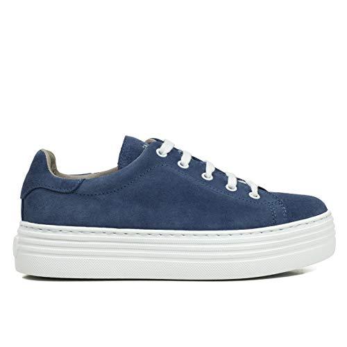 Cómodo Zapatos Con Plantilla Zapato España En Zapatilla Mimao Mujer Azul Hechos Mujer Plataforma Piel Memory Foam Blanca Sneakers Bqwx7BAp