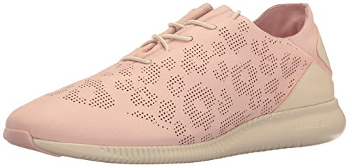 Cole Haan Womens Studiogrand P&g Trainer Fashion Sneaker Silver/Pink Perforated Ocelot/Sandshell