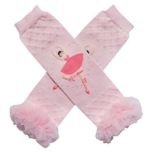 Ruffle Ballerina - Ballet Ballerina Styles Dance Leg Warmers - One Size - Baby, Toddler, Little Girl (Chiffon Tutu Ruffle Ballerina Pink)