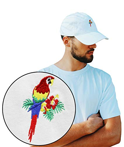 Riot Society Tropical Parrot Embroidered Dad Hat - White, One Size