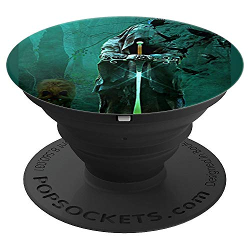 Magician Wizard Sorcery Witchcraft Magical Spells - PopSockets Grip and Stand for Phones and Tablets - Magician Sword