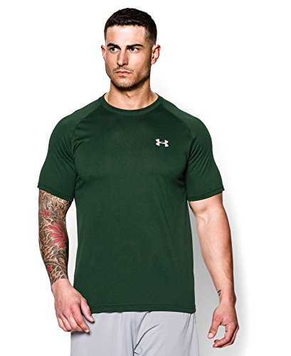 00f3f510d Under Armour Men's UA TechTM Short Sleeve T-Shirt Forest Green/white , size  : XXL - Buy Online in Oman. | Sports Products in Oman - See Prices, ...