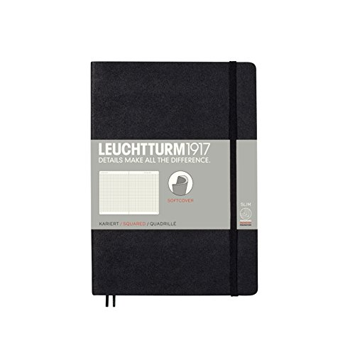 Leather Expandable Executive Roller - Leuchtturm1917 Softcover Medium Squared Notebook Black