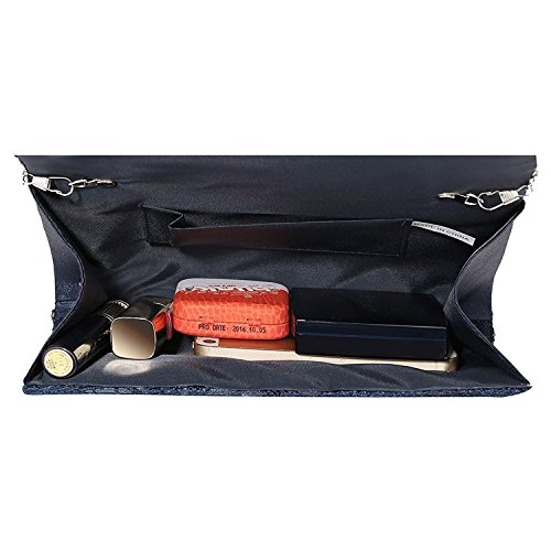 Handbag Purse Floral Asien Prom Lace Evening Clutch Envelope Elegant Blue by bag Women's xAz8PqwU5n