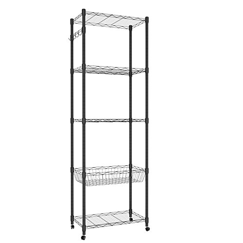 wire freestanding shelving unit - 7