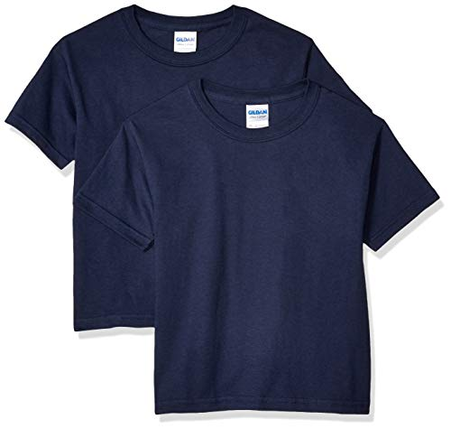 - Gildan Kids' Big Ultra Cotton Youth T-Shirt, 2-Pack, Navy, Medium