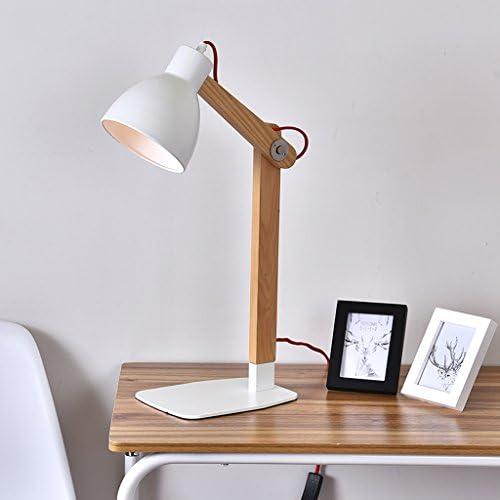 Zytyek Desk Lamp Wood Desk Lamp Modern Minimalist Office Desk Solid Wood Learning Work Nordic Bedroom Bedside Lamp Reading Lamp