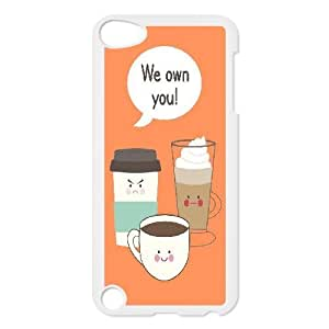 Coffee Illustration Kitchen Art Quote We Own You Ipod Touch 5 Cases, Jumphigh {White}
