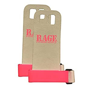 Rage Fitness Leather Hand Grips Pink