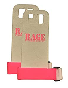 Rage Leather Hand Grips - Pink (Small)